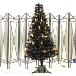 【クリスマス】120cmブラック光ファイバーツリー(クリスマスツリー/LEDランタン) T601-120