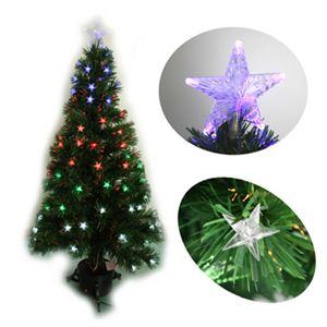 【クリスマス】90cm LEDファイバークリスマスツリー(スター) T554-90 - 拡大画像