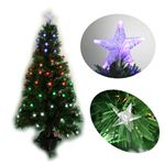 【クリスマス】120cm LEDファイバークリスマスツリー(スター) T554-120