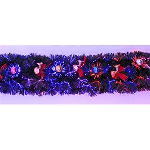 【クリスマス】200cm クリスマスファイバーガーランド(リボン付きベル/ボール) TT402-200