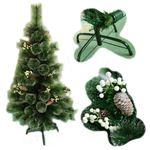 【クリスマス】120cm LEDクリスマスツリー(松ぼっくり) TZ604-120