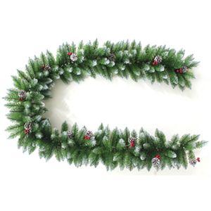 【クリスマス】270cm クリスマスファイバースノーガーランド(ドアオーナメント/松ぼっくり) ST609-9