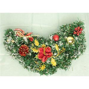【クリスマス】50cm ドアスワッグ レッド/ゴールド HL-T1743
