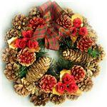 【クリスマス】27cm パインコーンリース レッド HL-H2753