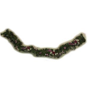 【クリスマス】200cm ラタンスワッグ レッド/シルバー HL-T432072