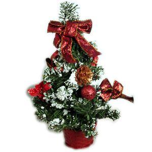 【クリスマス】30cm クリスマスツリー(レッド) Z-12431 - 拡大画像