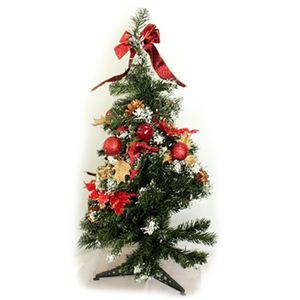 【クリスマス】80cm クリスマスツリー(レッド) C-12444 - 拡大画像
