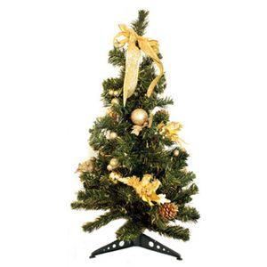 【クリスマス】80cm クリスマスツリー(ゴールド) C-12443 - 拡大画像
