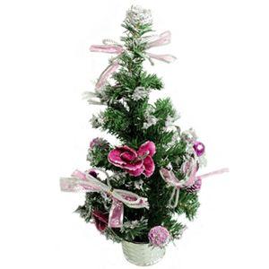 【クリスマス】50cm デコレーションツリー ローズ/シルバー HL-T430020 - 拡大画像