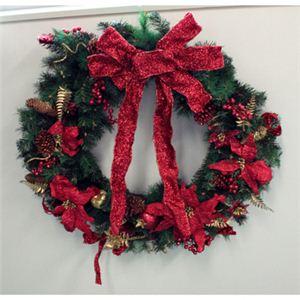 【クリスマス】クリスマスパインリース(レッド) D06-11316A