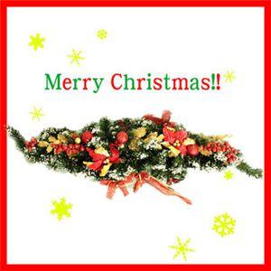 【クリスマス】クリスマススワッグ(レッド) D06-11346