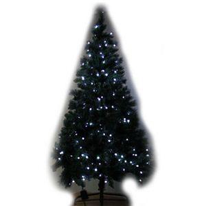 【クリスマス】180cm クリスマスツリー(ホワイトLED250球/8パターンコントローラ付) SL611/6 - 拡大画像