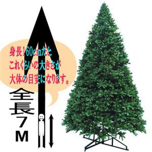 【クリスマス】7m ビッグクリスマスツリー GS605-700 - 拡大画像