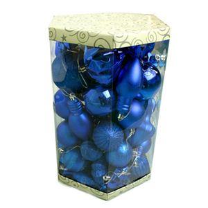 【クリスマス】ミックスサイズボール ブルー S-12232B(ブルー) - 拡大画像