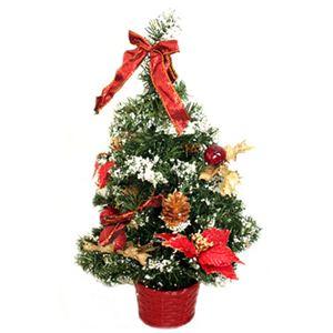 【クリスマス】39cm クリスマスツリー(レッド) C-12439 - 拡大画像