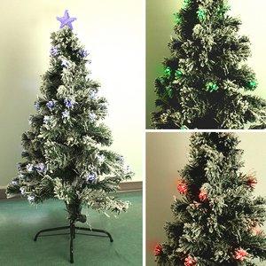 【クリスマス】90cm LEDファイバーツリー T682-90 - 拡大画像