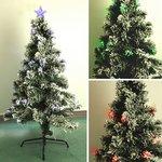 【クリスマス】90cm LEDファイバーツリー T682-90