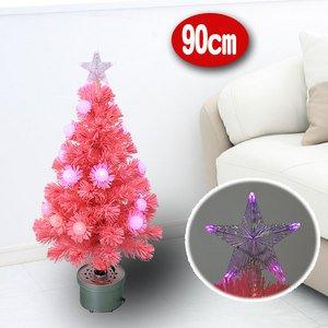 【クリスマス】90cm ファイバー ツリー T676-90 - 拡大画像