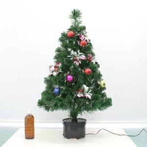 【クリスマス】90cm ファイバー ツリー T677-90 - 拡大画像