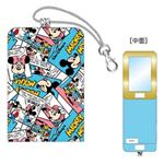 ディズニー パスケース型ファブリックミラー ミッキーマウス&ミニーマウス DN77333
