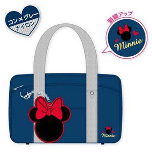 ディズニー パスケース付きバッグ ナイロン ミニーマウス DN77630 - 拡大画像