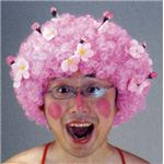 【パーティーグッズ】超!お花見アフロ
