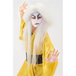 【パーティーグッズ】KABUKIかつら 白 - 拡大画像