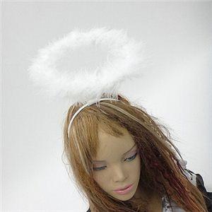 【パーティーグッズ】天使の輪 (白) - 拡大画像