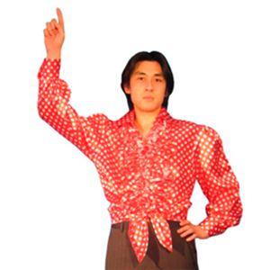 【パーティーグッズ】ダンスシャツ (赤水玉) - 拡大画像