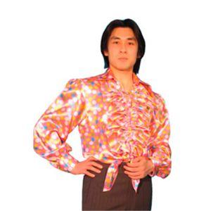 【パーティーグッズ】ダンスシャツ (ピンク水玉) - 拡大画像