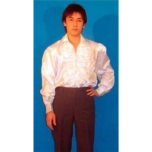 【パーティーグッズ】フリルドレスシャツ (白) - 拡大画像