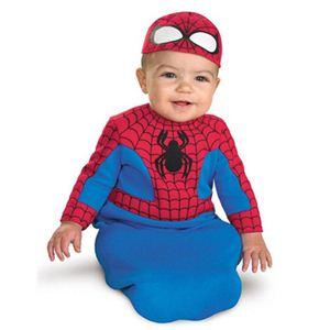 【コスプレ】 disguise Super Hero Squad / Spider man Bunting newborn スパイダーマン 幼児用コスチューム