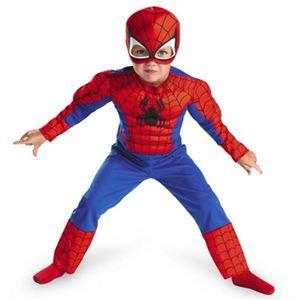 【コスプレ】 disguise Super Hero Squad / Spider Man Toddler Muscle (キッズ・子供用) スパイダーマンコスチューム 4-6