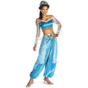 disguise Aladdin / Jasmine Sassy Adult Prestige 8-10 アラジン - 拡大画像