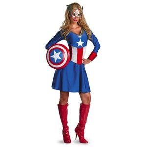 【コスプレ】 disguise Captain America / American Dream Classic Adult 8-10 キャプテンアメリカ アメリカンドリームクラシック - 拡大画像