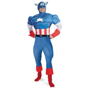 disguise Captain America / American Dream Classic Adult 42-46 キャプテンアメリカの写真1