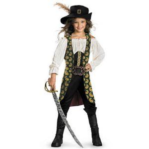 【コスプレ】 disguise Pirate Of The Caribbean / Angelica Deluxe Child 4-6X パイレーツ・オブ・カリビアン アンジェリカ キッズ・子供用 - 拡大画像