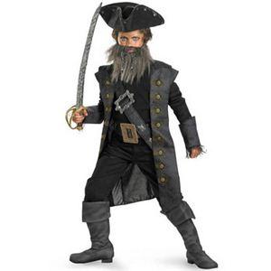 【コスプレ】 disguise Pirate Of The Caribbean / Black Beard Deluxe Child 14-16 パイレーツ・オブ・カリビアン 黒ひげ キッズ・子供用 - 拡大画像