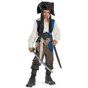 【コスプレ】 disguise Pirate Of The Caribbean / Captain Jack Sparrow Deluxe Child 14-16 パイレーツ・オブ・カリビアン ジャックスパロウ キッズ・子供用 - 拡大画像
