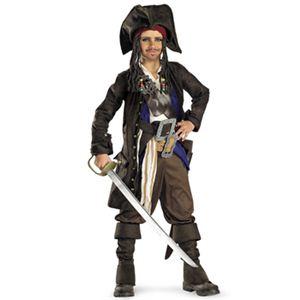 【コスプレ】 disguise Pirate Of The Caribbean / Captain Jack Sparrow Prestige Premium Child 7-8 パイレーツ・オブ・カリビアン ジャックスパロウ キッズ・子供用 - 拡大画像