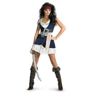 【コスプレ】 disguise Pirate Of The Caribbean / Jack Sparrow Sassy 12-14 パイレーツ・オブ・カリビアン ジャックスパロウ - 拡大画像