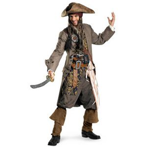 【コスプレ】 disguise Pirate Of The Caribbean / Captain Jack Sparrow Theatrical Adult パイレーツ・オブ・カリビアン ジャックスパロウ - 拡大画像
