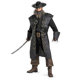 【コスプレ】 disguise Pirate Of The Caribbean / Black Beards Deluxe Adult 50-52 パイレーツ・オブ・カリビアン ブラック・ブラッド - 拡大画像