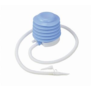 【ビーチグッズ】エアーポンプ ライトブルー 13cmの写真1