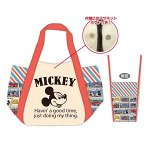 ディズニー バケツ型トートバッグL アメコミ ミッキーマウス - 拡大画像