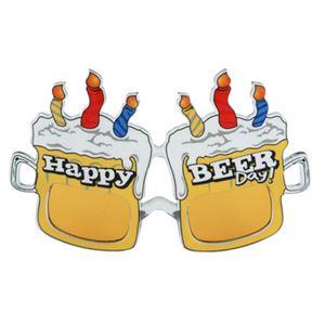【パーティーグッズ】elopeおもしろメガネ Happy Beer Day - 拡大画像