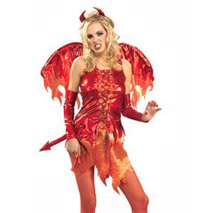 コスプレ女子会・結婚式余興【コスプレ】 RUBIE'S(ルービーズ) 888176M Devil On Fire - 拡大画像