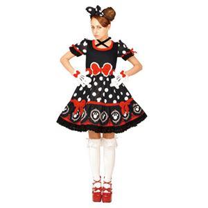 【コスプレ】 RUBIE'S(ルービーズ) 95073 Gothic Costume Adult Minnie Black ゴシックミニー ブラック Stdサイズ - 拡大画像