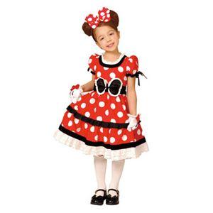 【コスプレ】 RUBIE'S(ルービーズ) 95075S Gothic Costume Child Minnie Red S ゴシックミニー レッド - 拡大画像