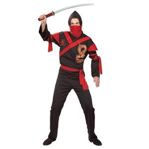 【コスプレ】 RUBIE'S(ルービーズ) 887025 Std Dragon Ninja Warrior Stdサイズ ドラゴン忍者 - 拡大画像